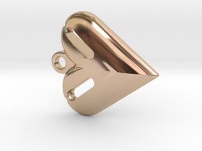 Tritium Heart Pendant in 14k Rose Gold Plated