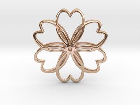 Cherry Blossom Symbol Pendant in 14k Rose Gold Plated Brass