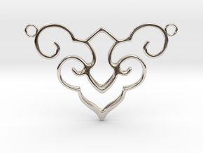 Wishful Cloud Symbol Necklace  in Rhodium Plated Brass