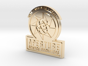 Portal 2 ® Aperture Science Innovators Pin in 14k Gold Plated Brass