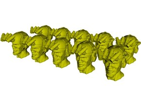 1/50 scale SOCOM operator C helmet & heads x 10 in Smoothest Fine Detail Plastic