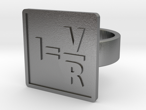 Ohm's Law Ring in Natural Silver: 8 / 56.75