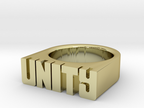 14.6mm Replica Rick James 'Unity' Ring in 18k Gold Plated Brass