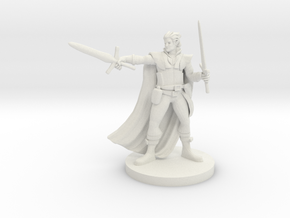 Half Elf Two Weapon Fighter in White Strong & Flexible