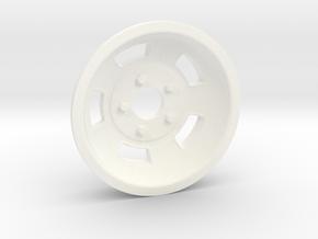 1:8 Front American Standard Racing Wheel  in White Processed Versatile Plastic