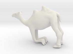 Printle Thing Camel Kneeling - 1/64 in White Natural Versatile Plastic