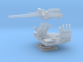 1/96 5 inch 25 (12.7 cm) Deck AA Gun KIT in Smooth Fine Detail Plastic