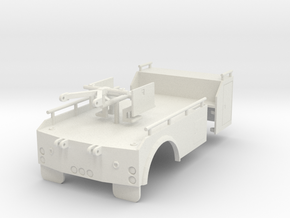 1/50th Holmes Single Axle Tow Truck Wrecker Bed in White Natural Versatile Plastic