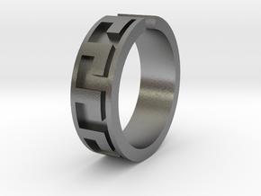 Roman Midi Ring  in Natural Silver