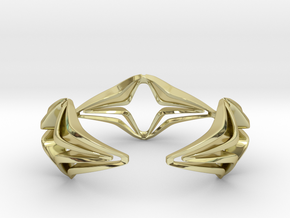 Youniq Edge Bracelet  in 18k Gold Plated Brass: Medium