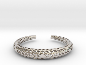 D-Strutura Bracelet Medium Size in Platinum