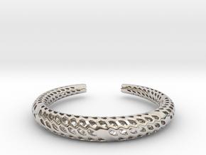 D-Strutura Bracelet Medium Size in Platinum