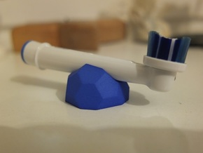 Low-Poly Toothbrush Holder in Blue Strong & Flexible Polished