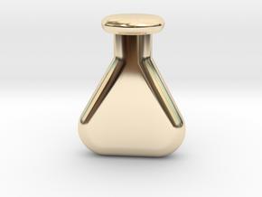 chemistry vial in 14k Gold Plated Brass