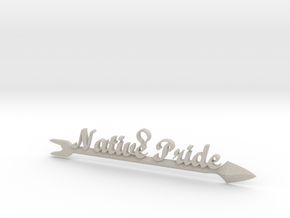Native Pride Arrow 4 Inch Pendant in Natural Sandstone