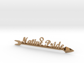 Native Pride Arrow 4 Inch Pendant in Polished Brass