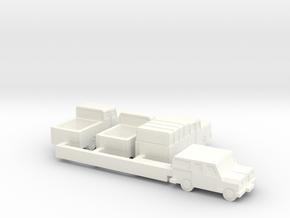 Small Trucks (+25% size) in White Processed Versatile Plastic