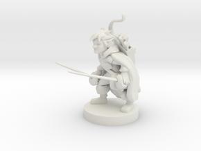 Gnome Ranger / Rogue in White Strong & Flexible