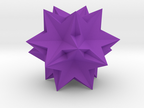 Ten tetrahedra in Purple Processed Versatile Plastic