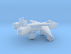 Jet w/ landing gear in Smooth Fine Detail Plastic