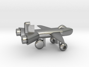 Jet w/ landing gear in Natural Silver