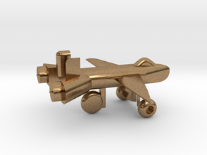 Jet w/ landing gear in Natural Brass