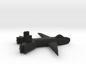 Jet no landing gear in Black Premium Versatile Plastic