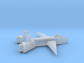 Jet no landing gear in Smooth Fine Detail Plastic
