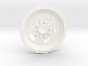 1:8 Front Halibrand Style Salt Flat Wheel in White Processed Versatile Plastic