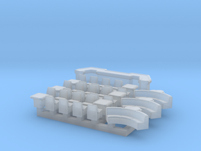 6mm Space Bar (37pcs) in Smooth Fine Detail Plastic