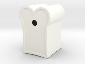 BirdHouse in White Processed Versatile Plastic