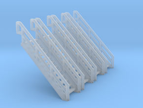 Z Scale Industrial Stairs 12 (4pc) in Frosted Ultra Detail