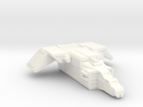 MKII Raptor Gunship in White Processed Versatile Plastic