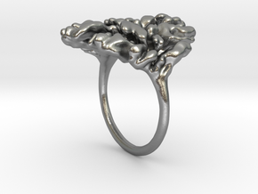 Coral Ring I   in Natural Silver