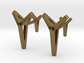 YOUNIVERSAL C. Cufflinks. Pure Elegance for Him in Polished Bronze
