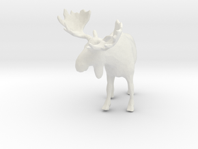 Printle Thing Moose - 1/76 in White Strong & Flexible