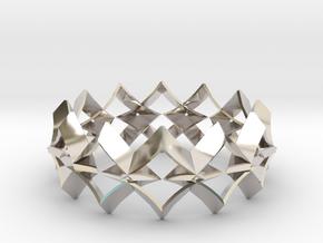 bracelet 01 Silver in Rhodium Plated Brass