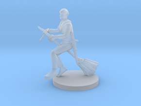 Bard on a  Broom in Smooth Fine Detail Plastic