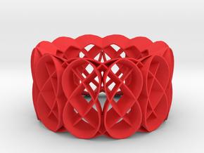 bracelet04H in Red Processed Versatile Plastic