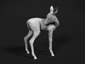 Impala 1:16 Licking Fawn in White Natural Versatile Plastic
