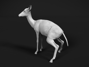 Impala 1:12 Pooping Female in White Natural Versatile Plastic