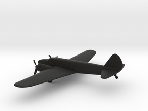 Boeing 247D in Black Natural Versatile Plastic: 1:200