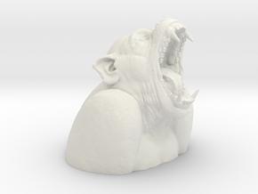Screaming primate in White Natural Versatile Plastic: Small