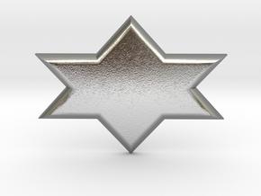 Star of David in Natural Silver