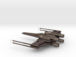 X-Wing in Polished Bronzed Silver Steel
