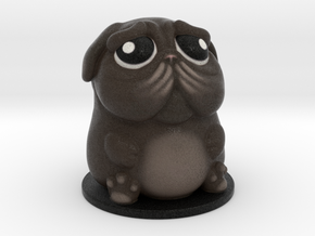 DoggyPop Pug Black in Full Color Sandstone