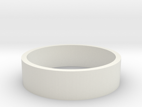HIC 19mm Ring in White Natural Versatile Plastic