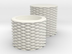 HIC Knobs in White Natural Versatile Plastic