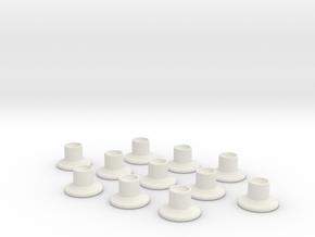 HIC Nipple V2 x11 in White Natural Versatile Plastic