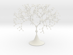 Nodal Fractal Tree in White Natural Versatile Plastic